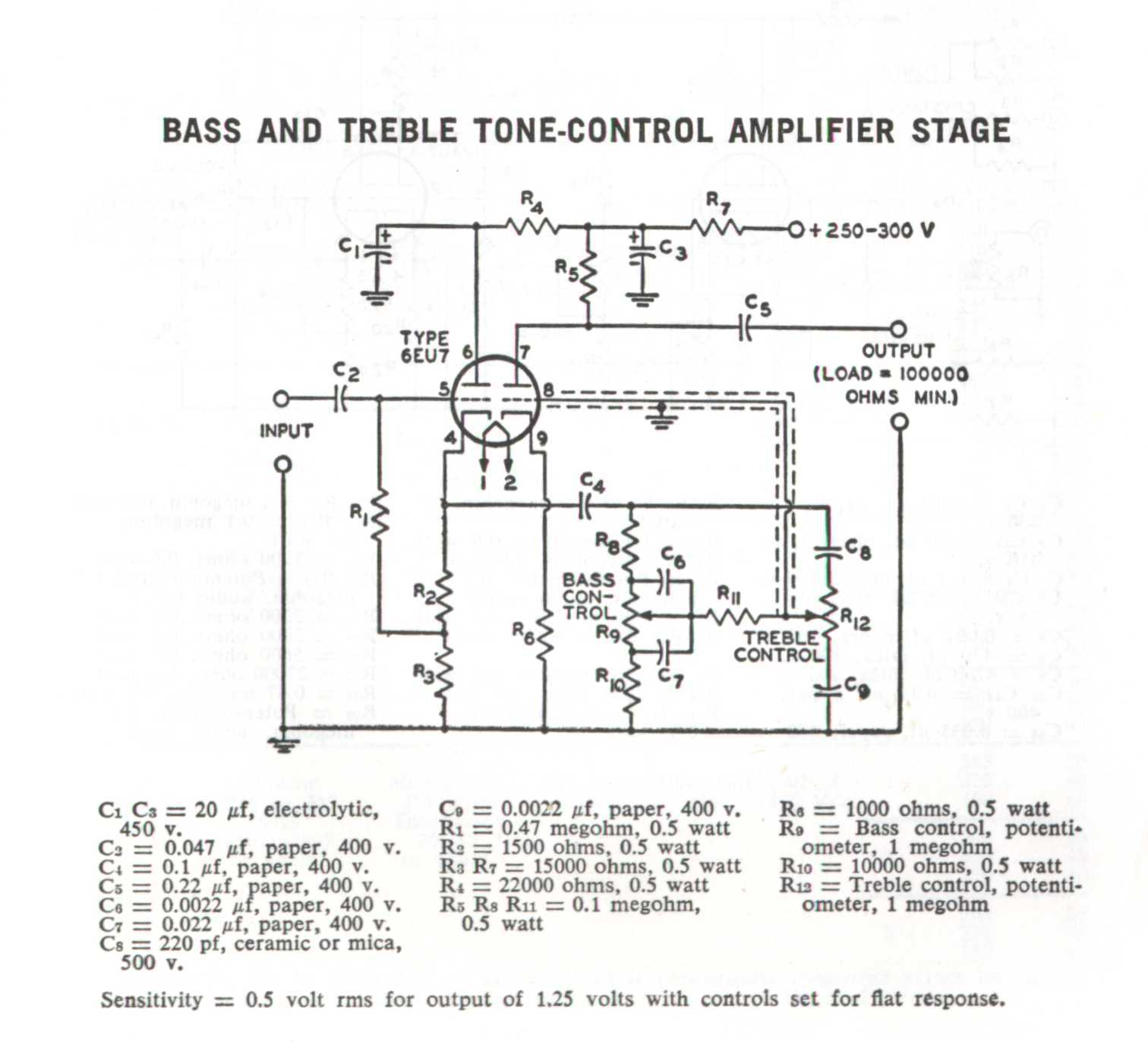 Stereo Tone Control Circuit Diagram T Classic With Low Noise Transistor Rca Amplifier Stage Rc 23 Tube Handbook 1964