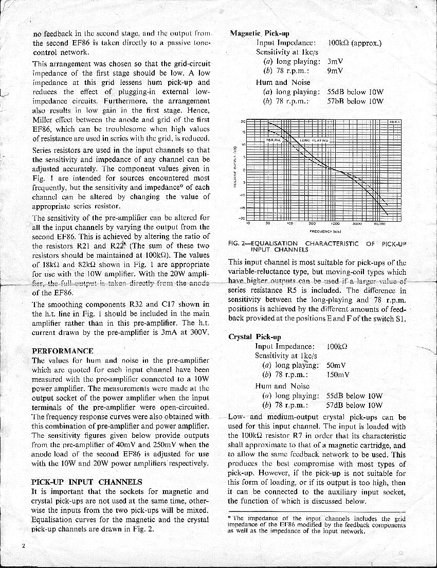 Preamp Parts List For Fig2 Active Tone Control Using Single Transistor Page 2